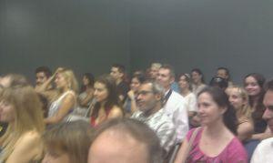Público asistente al estreno de Proceso de Selección